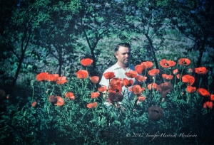 Grandpa in the Poppies