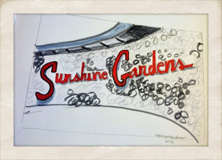 Sunshine Gardens, edited in Perfectly Clear and Camera+ by Jennifer Hartnett-Henderson ©2013