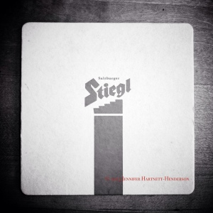 Stiegl Coaster in BW iphone photo by Jennifer Hartnett-Henderson © 2013