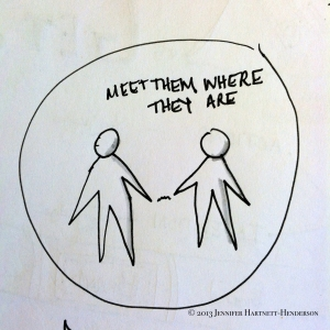 Meet Them Where They Are by Jennifer Hartnett-Henderson ©2013