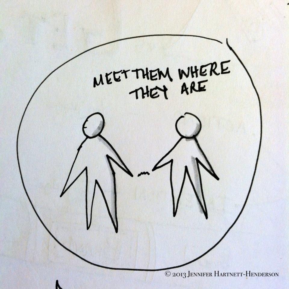Meet Them Where They Are by Jennifer Hartnett-Henderson ©2013