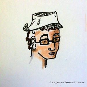 Study: Guy with Hat by Jennifer Hartnett-Henderson