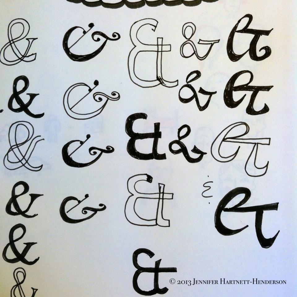 Ampersands by Jennifer Hartnett-Henderson ©2013