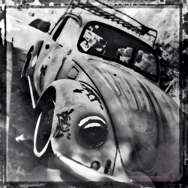 VW Power by Jennifer Hartnett-Henderson ©2013 shot with Hipstamatic, Cano Caphenol film and Loftus lens, edited in Snapseed, Aquarelle and Impressions