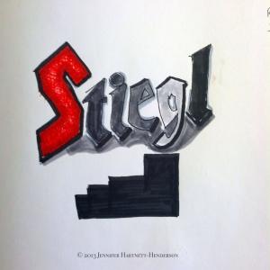Stiegl Drawing by Jennifer Hartnett-Henderson © 2013