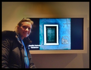 Thanks to Robin Glasser Sacknoff for this photo of me in front of one of my photos in the show
