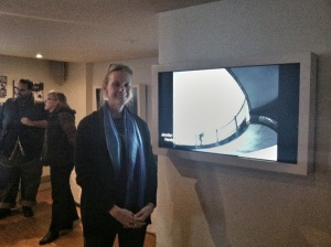 Thanks to Sue Holland and her bevy of supporters for this photo of me in front of one of my photos.