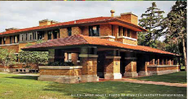 Frank Lloyd Wright Allen Lambe House Wichita Kansas as published in the Wichita Times Online Travel Kansas by Cynthia Miles, publisher and editor.