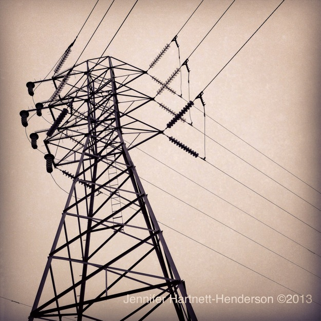 High Power Transmission Lines (Stevens Creek Trail) by Jennifer Hartnett-Henderson ©2013