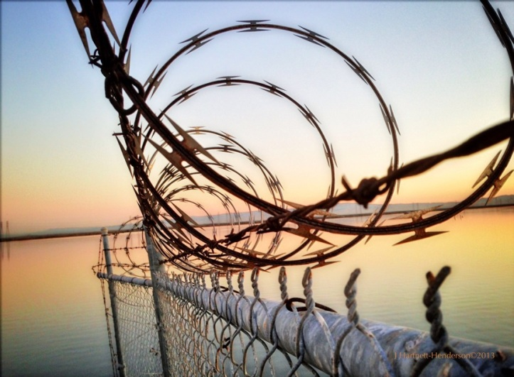 Sunrise and Razor Wire over Jogel Slough © Jennifer Hartnett-Henderson 2013