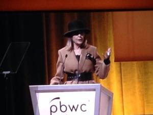 Diane Keaton at the PBWC Podium by Jennifer Hartnett-Henderson ©2014