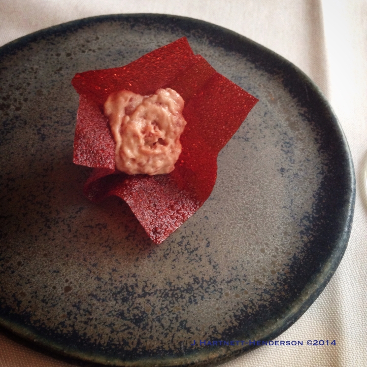 Dinner at Castagna, Amuse Bouche #1, by Jennifer Hartnett-Henderson ©2014
