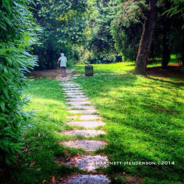 Woman with Cane in a Park by Jennifer Hartnett-Henderson ©2014