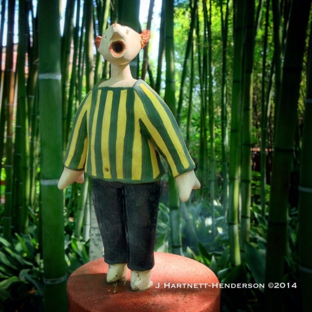 Bamboo Striped Man by Mariano Fuga in Heller Garden, by Jennifer Hartnett-Henderson ©2014