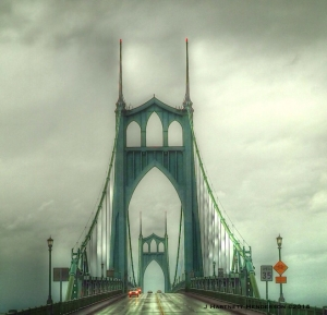 St John's Bridge on a Rainy Day by Jennifer Hartnett-Henderson ©2014