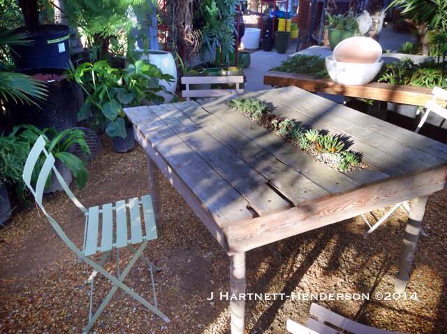 Flora Grubb Planter Table by Jennifer Hartnett-Henderson ©2014